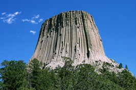 Devil's Tower close up